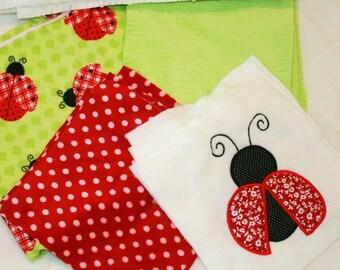Lovely Ladybug Cuddly Minky Blanket Kit
