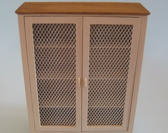 Dolls House 1/12th Scale 2 Door Storage Cupboard / Meat Store