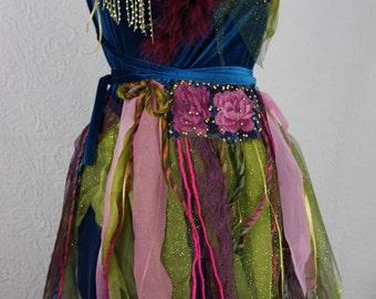 """Petrol Blue Velvet Party Dress """"The Fairy's Journey"""", Fairy, Art à porter, Unique, fairy dress"""