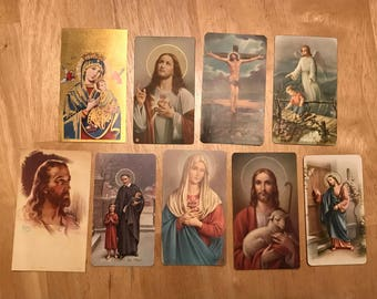 Religious Prayer Cards - 1960s, 1970s, 1980s Vintage - 9