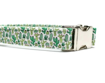 Cactus Dog Collar | Your choice of metal buckle or plastic buckle | Unique Dog Collar | Girl Dog Collar | Boy Dog Collar | Desert Dog Collar