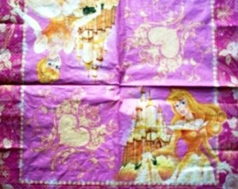 Princess Aurora and Cinderella #E001 NAPKIN