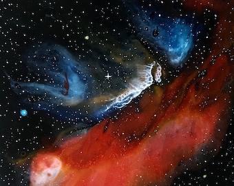 3x3 Resin Galaxy Nebula Painting