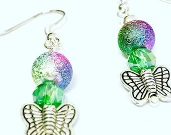 Butterfly earrings - butterfly sparkles