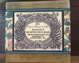 Heavenly Honeysuckle Soap - Organic Glycerin Soap - Beautiful Moisture Bar - Sweet Floral Fragrance
