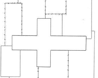 CROSS template designed for Bible Quilt® journal