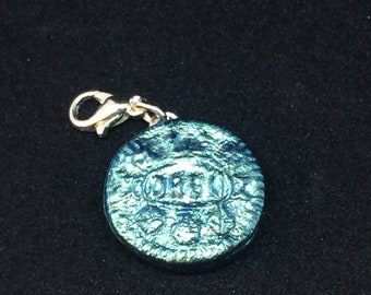 Ice blue iridescent Oreo charms
