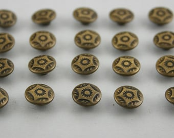 Vintage Star Rapid Rivets Studs Antique Brass Color 9 mm. 300 pcs.