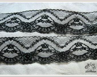 【Bonne affaire】7 m x 8 cm lace black fix REF 1522
