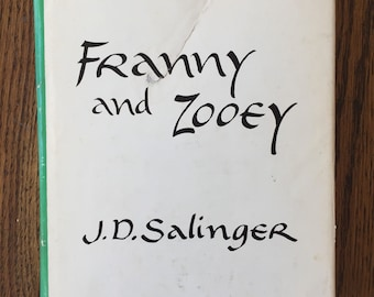 Franny and Zooey J.D. Salinger 1961 First Edition Fifth Printing hardcover vintage