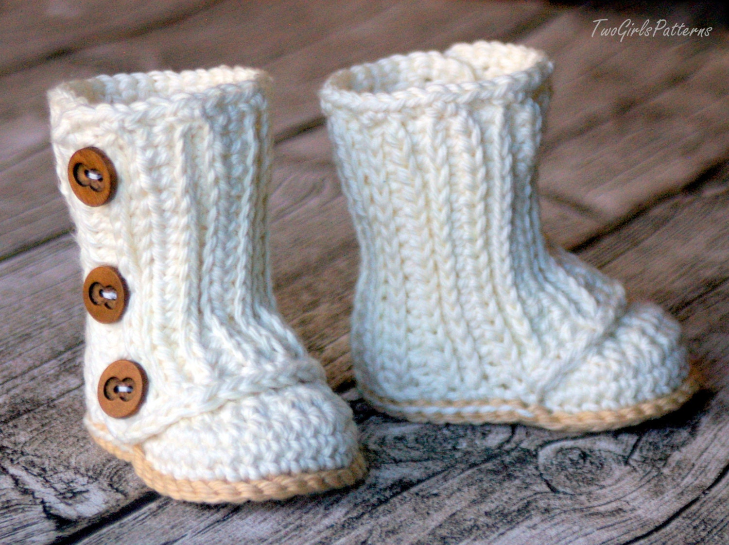 Crochet Pattern #112 Baby Wrap Boot - Instant Download - PDF L from ...