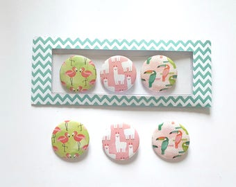 Badges 3 X 37 mm, tropical badges, pack of 3 badges creation MLP