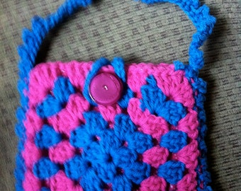 Crocheted Granny Square Purse #141