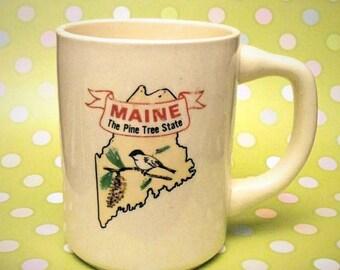 Maine, The Pine Tree State Vintage Mug