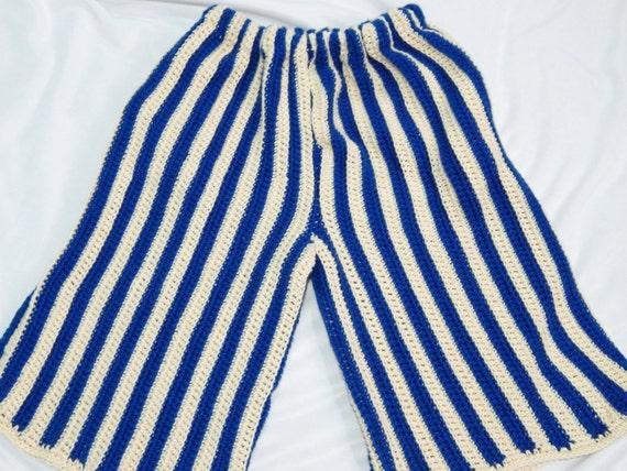Crochet Pattern For Mens Beach Long Shorts With Pockets Crochet