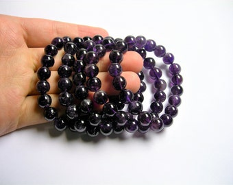 Amethyst  - 10mm round beads - 19 beads - 1 set - A quality - HSG73
