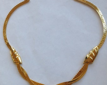 Vintage NS Necklace Choker Gold Tone