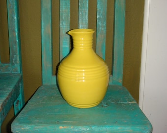 Vintage Pacific Pottery Yellow Carafe 1930s Hostess Ware Line