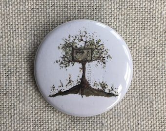 Treehouse. Pin-back button badge