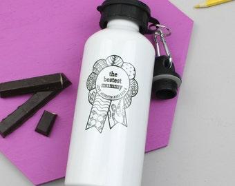 Water Bottle - Bestest Mum Mother's Day Gift - Custom Drinks Bottle - Sports Bottle - Gift For Mum - Gift For Mom - Best Mum - Birthday Gift