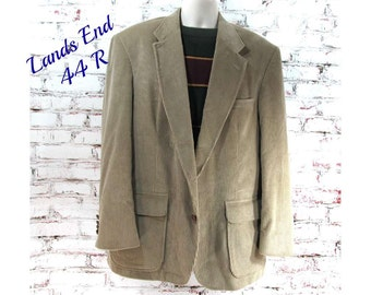Tan corduroy blazer, corduroy men's Sport coat, men's blazer, men's sports jacket, size 44 Reg.   # 165