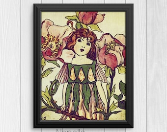 Vintage Fairy - Printable Wall Art Digital Downloads designed by Calico Collage - Print Your Own Images for Home decoration