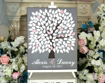 Wedding Guest Book Canvas Personalized Bridal Gift Gallery Wrapped Canvas Gift for Couples Guestbook Canvas Alternative Wedding Ideas