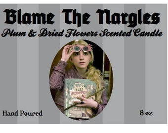 Harry Potter | Luna Lovegood | Blame The Nargles | Spectrespecs | Inspired Candle