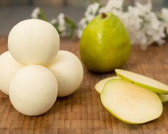 Fresh Picked Pear Handcrafted Naked Bath Bomb