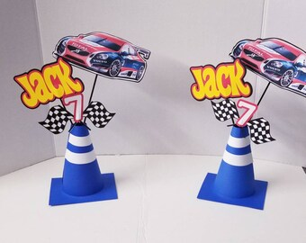 Race car themed Centerpiece