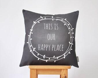 """Wedding Decorative Pillows, Modern Throw Pillow, Accent Pillow, Chalkboard Pillow, Minimalist Pillow Cover, Wedding Registry, 16"""" x 16"""""""