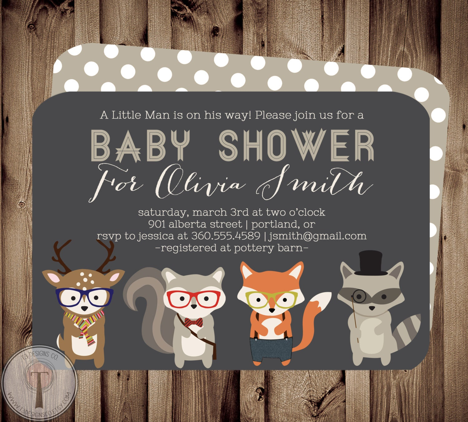 Forest Friends BABY Baby Shower Invitation, baby shower invite ...