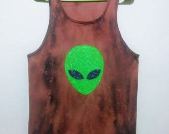 Alien Face Tank Top