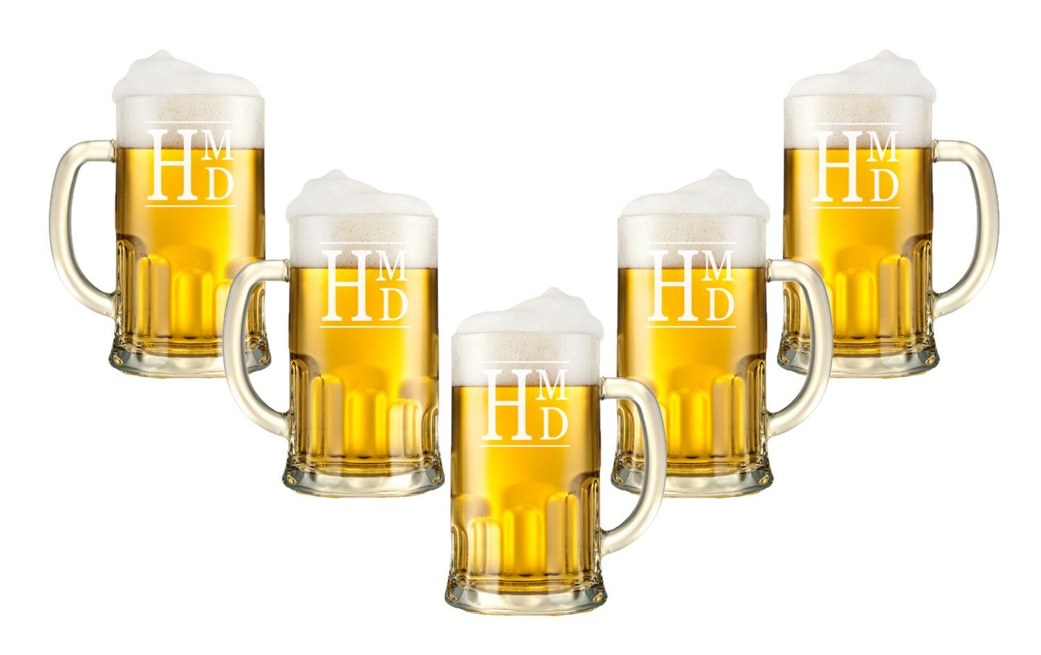 Personalized Beer Mugs - 12oz., Monogram Glasses, Etched Glasses ...