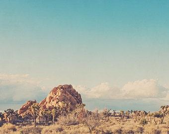 California desert photograph, Joshua Tree wall art, boho decor, Joshua Tree photo, landscape photography, nursery art, blue, Myan Soffia