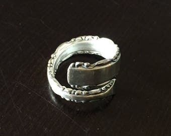 Alvin Sterling Silver Wrap Around Ring - Size 7 - Circa 1920s