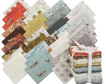 Alpine Fabric, Wildlife, National Park - Alpine by Erin Michaels Moda Fabric 26100 AB - Fat Quarter Set (32 pieces)