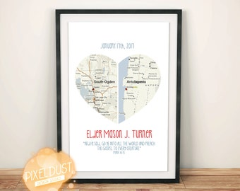 Long Distance Love Print (personalized digital print)