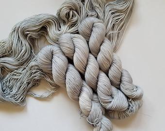 That's Just Grayt - Hand Dyed Tonal Yarn, Superwash Merino Nylon 2 Ply twist