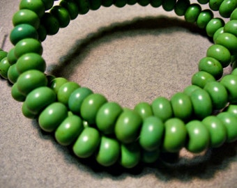 Magnesite Beads Green Gemstone Rondelle 6x4MM