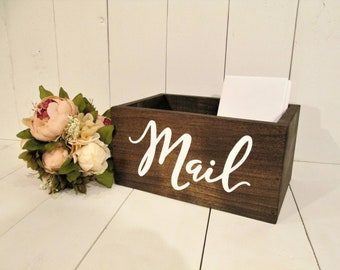 Rustic home decor, mail holder, mail box, mail organizer, bill holder, office decor, gift for her, gift for mom, farmhouse kitchen decor