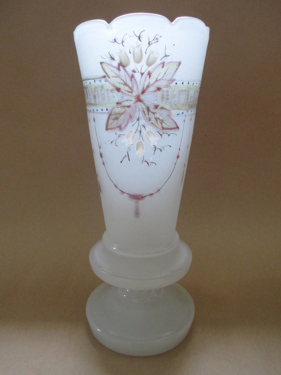 Frosted Glass Vase Glass Vase Antique Frosted Glass Vase