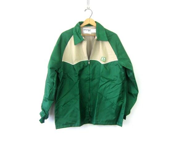 Green Swingster Jacket Farmers Chore jacket 1980s Pioneer Seed Coat Urban Hipster Street Coat Men's Size Large