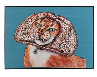 Breaded Cat Fine Art illustration Print