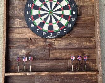 Recycled Pallet Dart Board Backboard