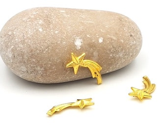 10 stars shooting Comet gold plated 16mm for resin creations