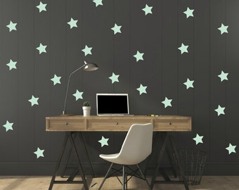 FREE SHIPPING Wall Decal   Stars Color Mint, A Large Quantity 170. Wall Sticker .Home Decor.Nursery. Kids Room