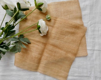 Coffee Dyed Cheesecloth - 1/2 Yard