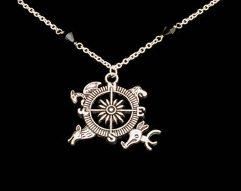 Game of Thrones inspired Compass Necklace