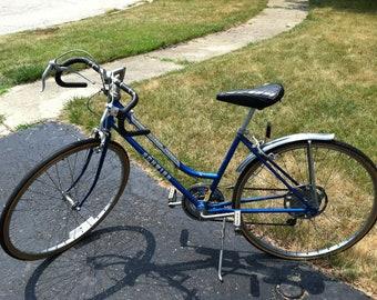 Vintage Schwinn Collegiate Women Girls Sport Bicycle Bike 5 speed Original Parts Metallic Blue Chicago